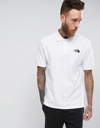 The North Face Pique Polo In White Tnfw Tnfw Tnfbk