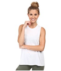Alo Yoga High Low Muscle Tank Top White Women's Sleeveless