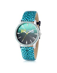 Just Cavalli Just Paradise Blue Animal Print Women's Watch Multicolor