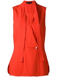Proenza Schouler Sleeveless Wrap Top Women Acetate Viscose 6 Red