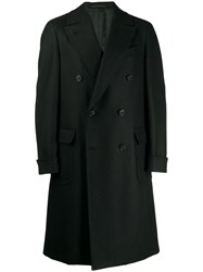 Caruso Double Breasted Coat Black