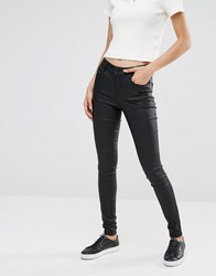 Vila Coated Jeans Black