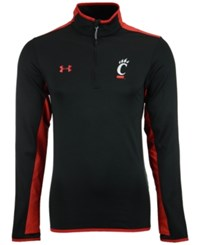Under Armour Men's Cincinnati Bearcats Smu Quarter Zip Pullover Black Red