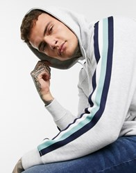 Celio Hoody With Taping Grey