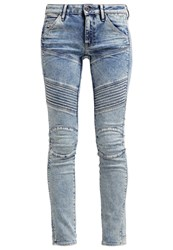 G Star Gstar 5620 Custom Mid Skinny Slim Fit Jeans Tobin Superstretch Int Moon Washed