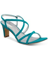 Bandolino Obex Slip On Strappy Sandals Women's Shoes Teal