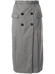 Camilla And Marc Karine Button Detail Skirt Grey