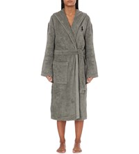 Ralph Lauren Home Logo Embroidered Cotton Dressing Gown Pebble