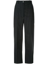 Nehera Publyn Pinstripe Canvas Trousers Black