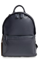 Ted Baker Men's London 'Dollar' Leather Backpack Blue Navy