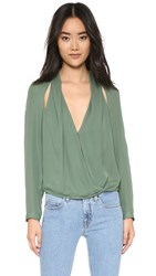 Mason By Michelle Mason Blouse With Slit Sage