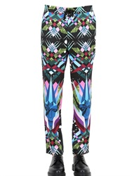 John Richmond Printed Silk Sateen Pants