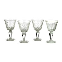 Pols Potten Clear Cuttings Wine Glasses Set Of 4