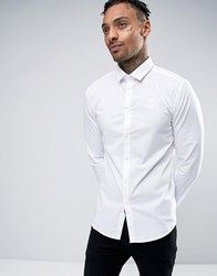 Sik Silk Siksilk Shirt In Skinny Fit White