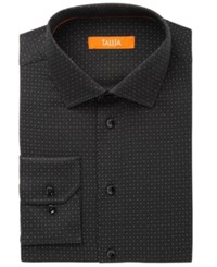 Tallia Men's Fitted Black Mini Dot Print Dress Shirt