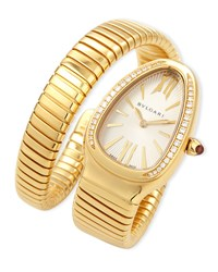 Bulgari 35Mm Serpenti Tubogas Yellow Gold Diamond Watch Bvlgari