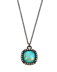 Armenta Old World Midnight Cushion Doublet Pendant Necklace With Diamonds Black