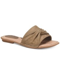 B.O.C. Haley Flat Sandals Taupe