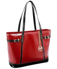Mcklein Serafina Leather Tote Red