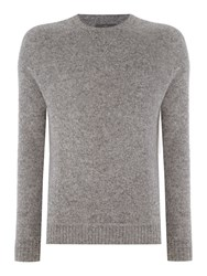 Peter Werth Copen Brushed Wool Knitted Sweat Jumper Silver