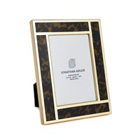 Jonathan Adler Bermuda Tortoise Campaign Frame 4'X6' Brown And Brass