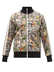 Palm Angels Woodland Camo Print Jersey Track Jacket Multi