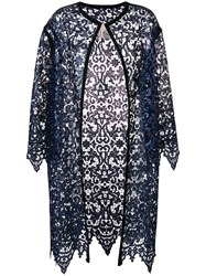 Antonio Marras Lace Embroidered Cardi Coat Polyester Blue