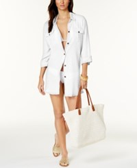 Dotti Shirtdress Cover Up Women's Swimsuit White
