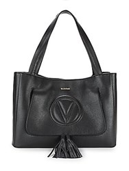 Valentino By Mario Valentino Ollie Leather Tote Black