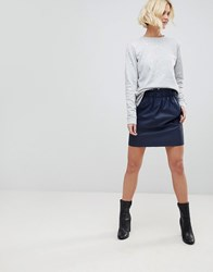 B.Young Paperbag Waist Skirt Copenhagen Night Navy