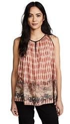 Giada Forte Printed Voile Top Cherry