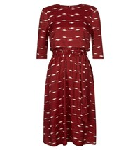 Hobbs Dorothy Layer Dress Red