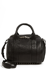 Alexander Wang 'Rockie Black Nickel' Leather Crossbody Satchel