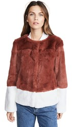 Adrienne Landau Rabbit Jacket Spice White