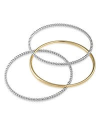 Ralph Lauren Textured And Solid Bangles Set Of 3 Multi