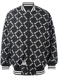 Ktz Square Latin Bomber Jacket Black