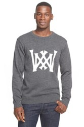 White Mountaineering Intarsia Logo Sweater Gray