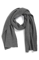 Men's Calibrate Seed Stitch Wool And Cashmere Knit Scarf