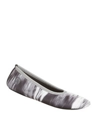 Isotoner Contrast Trim Ballet Slippers Neutral Galaxy