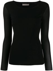 D.Exterior Fine Knitted Top Black
