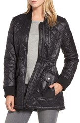 French Connection Women's Quilted Anorak Jacket Black