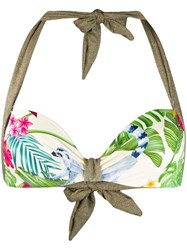 Mc2 Saint Barth Printed Emanuelle Bikini Top Green