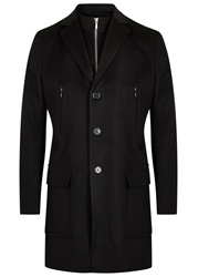 J. Lindeberg Wilhelm Black Wool Coat