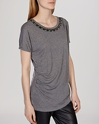 Karen Millen Tee Tribal Artwork Neck