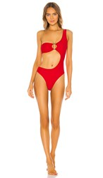 Ellejay Piper One Piece In Red. Poppy Red