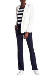 Sandro Contrast Waist And Sides Trouser Blue