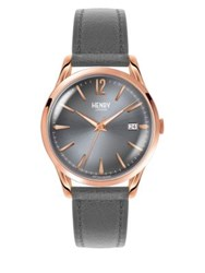 Henry London Finchley Stainless Steel Leather Strap Analog Watch No Color