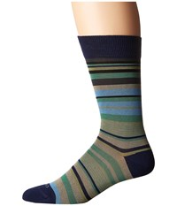 Etro Mini Striped Socks Blue Men's Crew Cut Socks Shoes