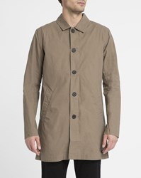 Nowadays Light Grey Serge Cotton Coat