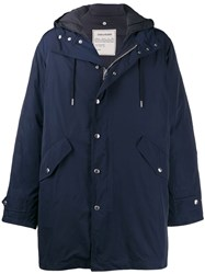 Zadig And Voltaire Kattle Amo Tech Parka Coat Blue